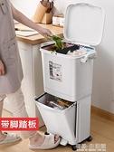 垃圾桶 佳幫手分類垃圾桶家用帶蓋廚房客廳創意衛生間臥室北歐大號腳踏高 有緣生活館