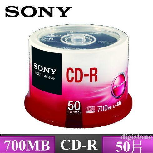 ◆特販+免運費◆SONY 空白光碟片 CD-R 48X 700MB 光碟燒錄片( 50P布丁桶裝X6) 300PCS ◆批發價◆