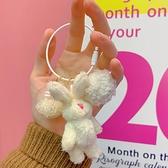 拉面丸子店鋪可愛鈴鐺兔子包包掛件鑰匙圈裝飾配件少女心日系掛飾