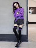 過膝襪 黑色過膝襪女高筒襪子長夏季日系韓國學院風學生大腿襪潮歐美街頭 快速出貨
