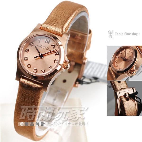 ab65dd3c670e MARC JACOBS 精品錶推薦玫瑰金電鍍玫瑰金面玫瑰金皮帶20mm 女