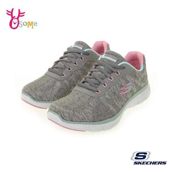 Skechers運動鞋 女鞋 防水鞋面 FLEX APPEAL 4.0 寬楦款 慢跑鞋 跑步鞋 記憶鞋墊 輕量避震 W8241#灰色