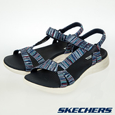 SKECHERS ON-THE-GO 600 女鞋 涼鞋 回彈 輕量 網布 藍【運動世界】140013NVMT