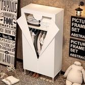 特賣簡易衣櫥25MM加粗加固鋼管簡易衣櫥鋼架布藝布衣櫥單人小號簡約現代經濟型