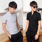 Mao  最新款日韓新品立領造型款短袖POLO衫