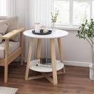 北歐實木茶幾簡約現代客廳小圓桌子創意邊幾簡易小戶型陽臺小茶幾