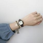 方形手錶法國小眾手錶女ins風森系學院風學生高中方形設計復古文藝小方錶 玩趣3C