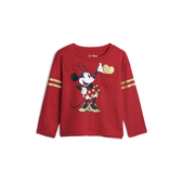Gap女幼童GapxDisney迪士尼系列套頭T恤519091-摩登紅色