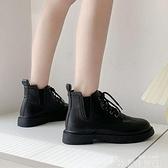 馬丁靴女瘦瘦網紅短靴英倫風小個子2021年新款冬加絨低筒短靴日繫 韓國時尚週