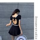 特惠連身泳裝 韓國新款ins網紅泳衣女保守裙式連體遮肉顯瘦套裝學生度假游泳裝