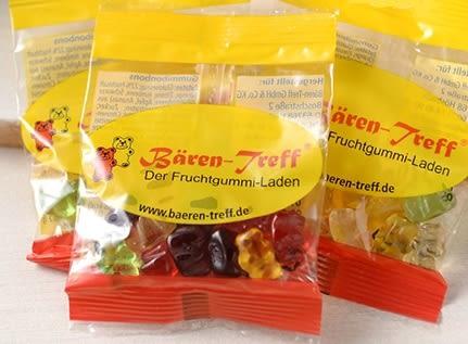 【德潮購】德國 Bären treff 天然果汁小熊軟糖 隨身包 12g x 10包/組
