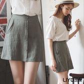 LIYO理優鬆緊腰A字短裙L723007