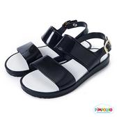 PIMPOLHO 果凍休閒涼鞋-童-黑色