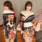 日式情趣內衣和服性感睡衣女透明火辣冰絲薄款【聚寶屋】