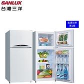 【 三洋家電】128L 雙門定頻電冰箱 一級節能《SR-C128B1》全新原廠保固