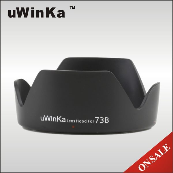 我愛買#uWinka副廠Canon遮光罩EW-73B遮光罩EW73B遮罩EFS 17-85mm f/4-5.6 USM 18-135 F/3.5-5.6 IS USM