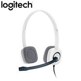 Logitech 羅技 H150 立體聲耳機麥克風 白