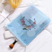 ✭慢思行✭【P630】印花整理抽繩收納袋(小號21x24) 單入 旅行 拉繩束口袋 衣物 整理 收口袋