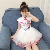 女童旗袍 新款夏裝中小童中國風旗袍裙子LJ8876『小美日記』