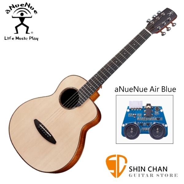 aNueNue M52E 36吋小吉他 可插電民謠吉他 單板雲杉木+相思木側背板 附贈anuenue原廠吉他袋