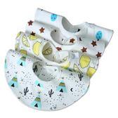 寶寶口水巾 360度旋轉嬰兒口水巾圍嘴棉寶寶圓形圍嘴兜新生兒飯兜防水 萌萌小寵
