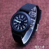 小男孩防水帆布手錶韓國版石英中兒童錶小學生數字腕錶男童潮腕錶『櫻花小屋』