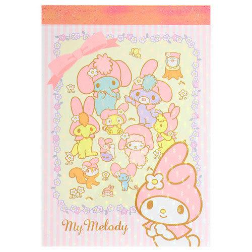 ★funbox生活用品★《Sanrio》美樂蒂40週年紀念文具-迷你便條本(驚喜派對) UA45799