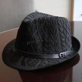 春夏款帽子男女情侶卷邊小禮帽英倫復古時尚百搭針織爵士帽遮陽帽 智慧e家