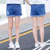 短褲 女童牛仔短褲夏裝破洞中大童兒童夏季韓版外穿新款百搭薄款熱褲子 艾美時尚衣櫥