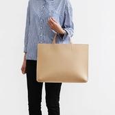 韓版簡約手拎包女手提包A4文件包OL商務辦公包公文包筆 春季特賣