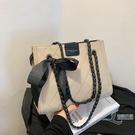 時尚百搭手提包大容量斜背包女士托特包【邻家小鎮】