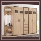 【多瓦娜】雷納爾8.3尺組合衣櫥(全組) 21057-535001