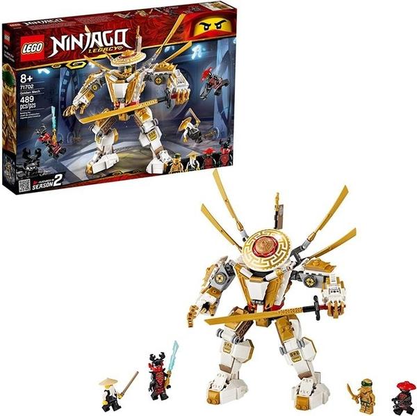 LEGO 樂高 NINJAGO Legacy Golden Mech 71702 兒童積木玩具 (489件)