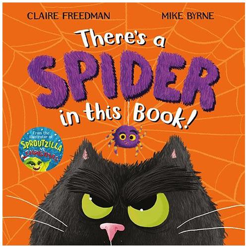 【麥克書店】There s a Spider in This Book萬聖節Halloween節慶英文繪本