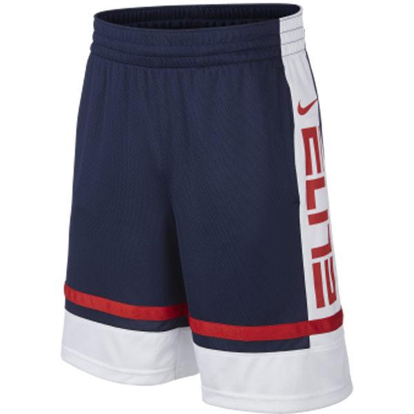 NIKE ELITE 童裝 男大童 籃球 短褲 透氣 乾爽 側口袋 藍白 【運動世界】 BV3431410
