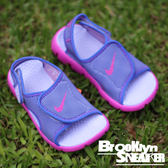 NIKE SUNRAY ADJUST 4 (GS/PS)  童鞋 紫粉 涼鞋 中童 大童 (布魯克林)  2017/6月 386520-504