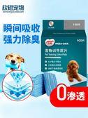 狗狗尿墊寵物用品泰迪用尿不濕貓尿片100片加厚除臭吸水尿布