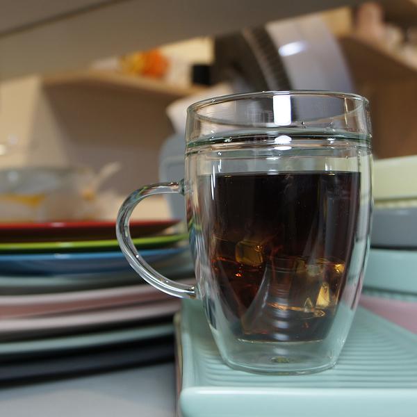 台玻a33雙層耐熱玻璃馬克杯 玻璃杯 314ml