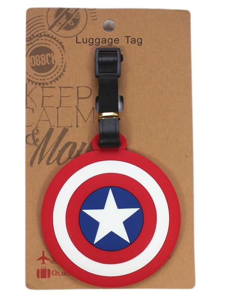 【卡漫城】 美國隊長 行李吊牌 盾牌 名牌套 行李箱 書包 識別 姓名 掛牌 吊飾 Captain America 漫威