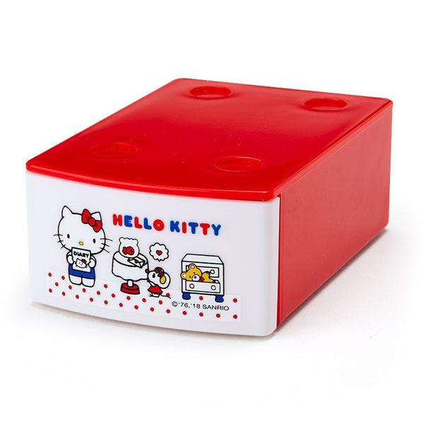 日本kitty便條紙收納盒疊疊樂積木盒592977通販屋