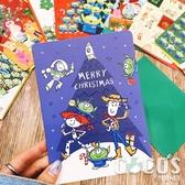 正版 迪士尼 玩具總動員 巴斯胡迪三眼怪 聖誕節卡片 耶誕卡片 大卡片 附信封 G款 COCOS XX001