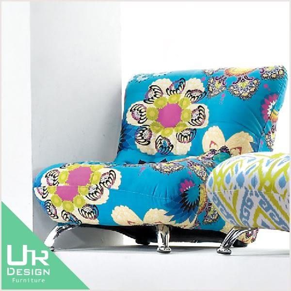 混搭風格土耳其藍色繽紛小椅子(18JX/159-4)