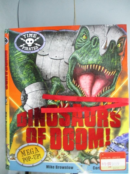 【書寶二手書T8/少年童書_XCG】Dinosaurs of Doom!_Brownlow, Mike (ILT)/ F