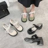 娃娃鞋 春款復古粗高跟瑪麗珍大頭鞋女網紅同款學院風小皮鞋娃娃單鞋 - 風尚3C
