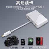 讀卡器多合一蘋果讀卡器手機otg多功能單反相機套件SD/TF/CF卡U盤內存卡USB 新北購物城
