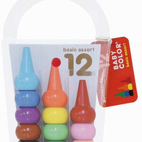 【日本製】【AOZORA】Baby Color 幼童用 積木造型色筆(一組:3個) SD-13613 - AOZORA