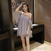 2021夏季新款直播衣服裝女主播一字肩抹胸裙子夜店女裝性感洋裝  【韓語空間】
