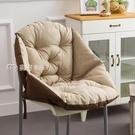 坐墊坐墊靠墊一體護腰座墊加厚毛絨辦公室學生藤椅餐椅子電腦靠背椅墊YYS 快速出貨