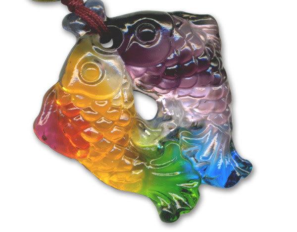 鹿港窯~居家開運水晶琉璃項鍊~有餘◆附精美包裝 ◆免運費送到家