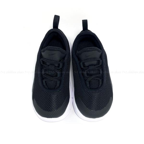 《7+1童鞋》小童 NIKE AIR MAX MOTION2 (TDE) 氣墊 套入式鞋帶 運動鞋 H823 黑色